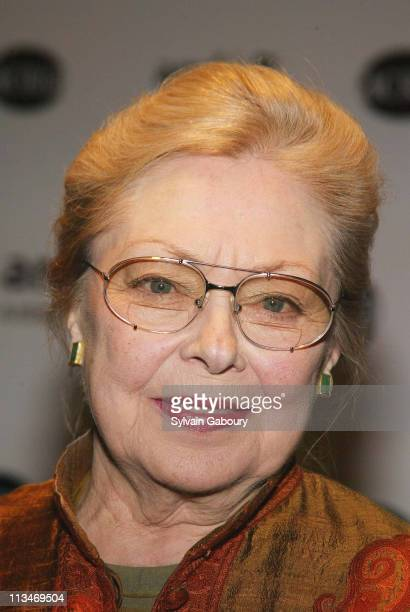 Dr Mathilde Krim during amfAR and ACRIA Honor Herb Ritts for His Work and Activism at Sotheby's in New York New York United States