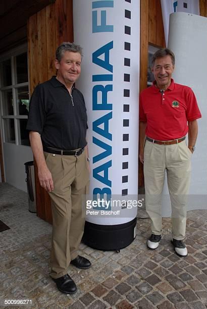 Dr Matthias Esche Frank Wössner GolfVeranstaltung Bavaria Film Cup 2007 Golfclub München Riedhof München Bayern Deutschland Europa Logo Promi NB FTP...