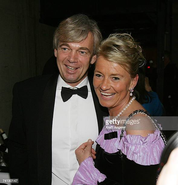Dr Matthias Prinz and Angelika Jahr pose at the Henri Nannen Award at the Schauspielhaus on May 11 2007 in Hamburg Germany