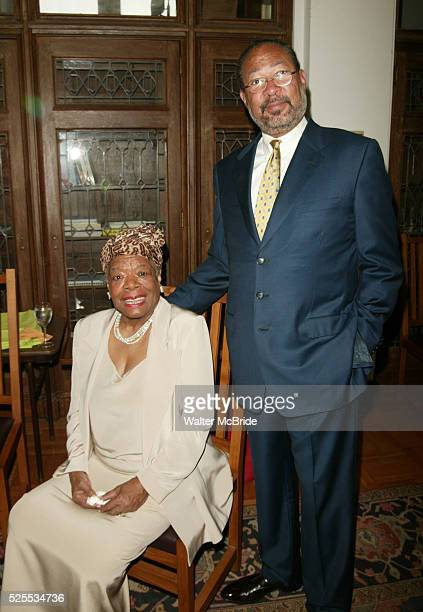 Dr Maya Angelou and Richard Parsons attending The Abyssinian Development Corporation's Tenth Annual Renaissance Day of Commitment Leadership...
