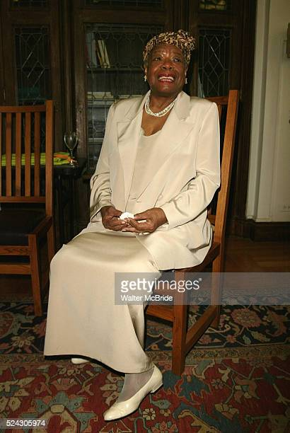 Dr Maya Angelou attending The Abyssinian Development Corporation's Tenth Annual Renaissance Day of Commitment Leadership Breakfast at City College in...