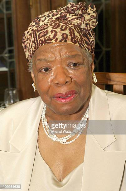 Dr Maya Angelou during Announcement of the 10th Annual Harlem Renaissance Day of Commitment at Shepard Hall at City College in New York City New York...