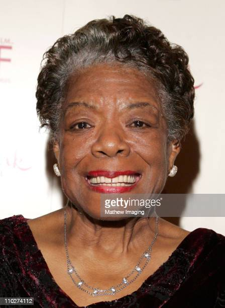 Dr. Maya Angelou during Women in Film and Hallmark Channel Honor Dr. Maya Angelou at Academy of Motion Picture Arts and Sciences in Hollywood,...