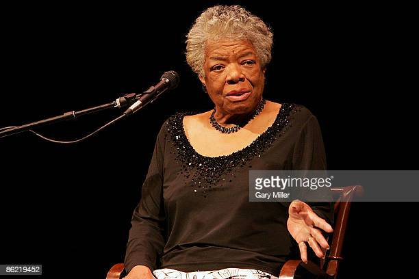 Dr. Maya Angelou speaks to a sold out crowd at the Paramount Theater on April 25, 2009 in Austin, Texas.
