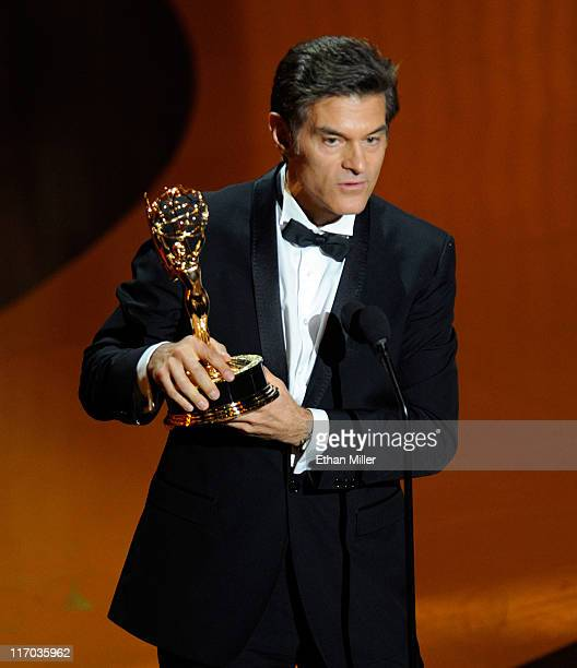 Dr Mehmet Oz accepts the Outstanding Talk Show Host award onstage during the 38th Annual Daytime Entertainment Emmy Awards held at the Las Vegas...