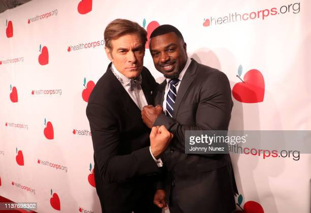 Dr Mehmet Oz and Brian Westbrook attend the 13th Annual HealthCorps Gala at Cipriani 25 Broadway on April 16 2019 in New York City