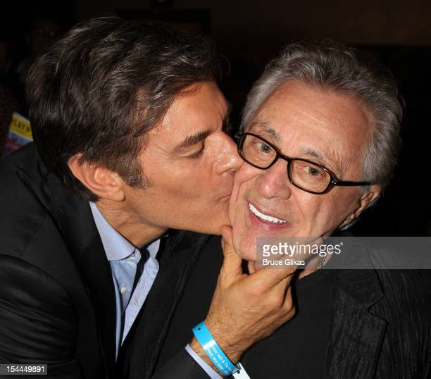 Dr Mehmet Oz and Frankie Valli attend the Frankie Valli and the Four Seasons 50th Anniversary Celebration and the Broadway debut of The One The Only...