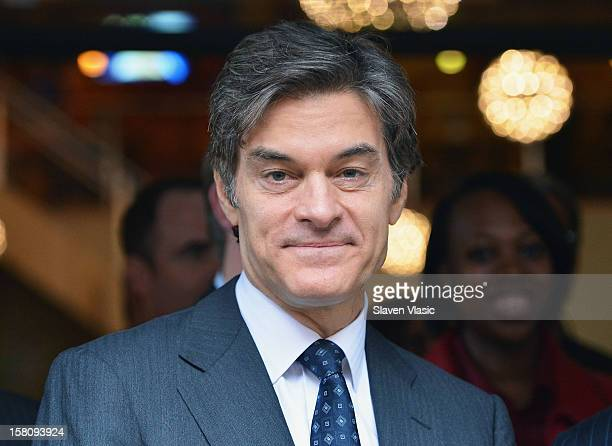 Dr Mehmet Oz attends Green and EcoFriendly Applebee's Ribbon Cutting Ceremony at Applebee's on December 10 2012 in New York City