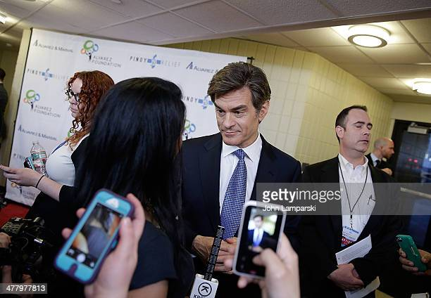 Dr. Mehmet Oz attends the Pinoy Relief Benefit concert at Madison Square Garden on March 11, 2014 in New York City.