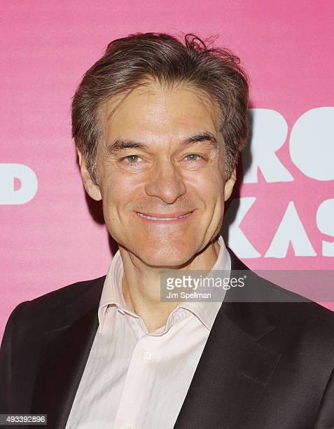 Dr Mehmet Oz attends the Rock The Kasbah New York premiere at AMC Loews Lincoln Square on October 19 2015 in New York City