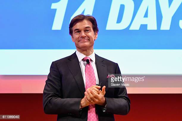 Dr Mehmet Oz speaks onstage at the Good Health is Good Business panel at The Town Hall during 2016 Advertising Week New York on September 29 2016 in...