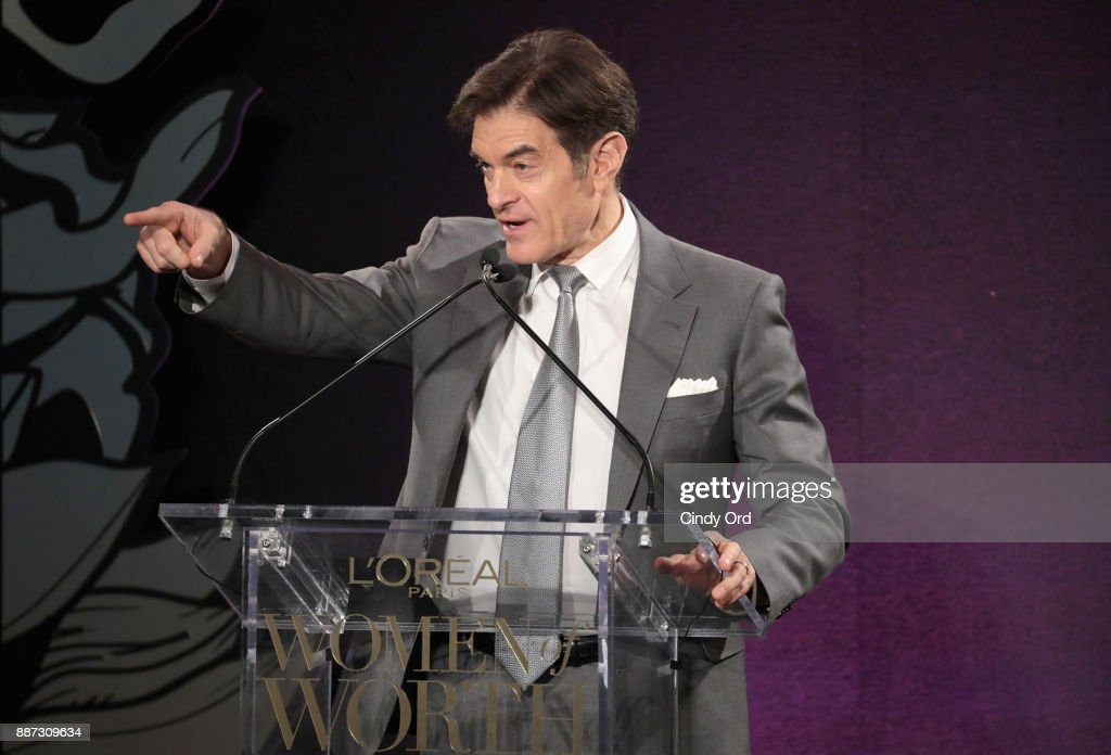 Dr. Mehmet Oz speaks onstage during the L'Oreal Paris Women of Worth Celebration 2017 at The Pierre Hotel on December 6, 2017 in New York City.