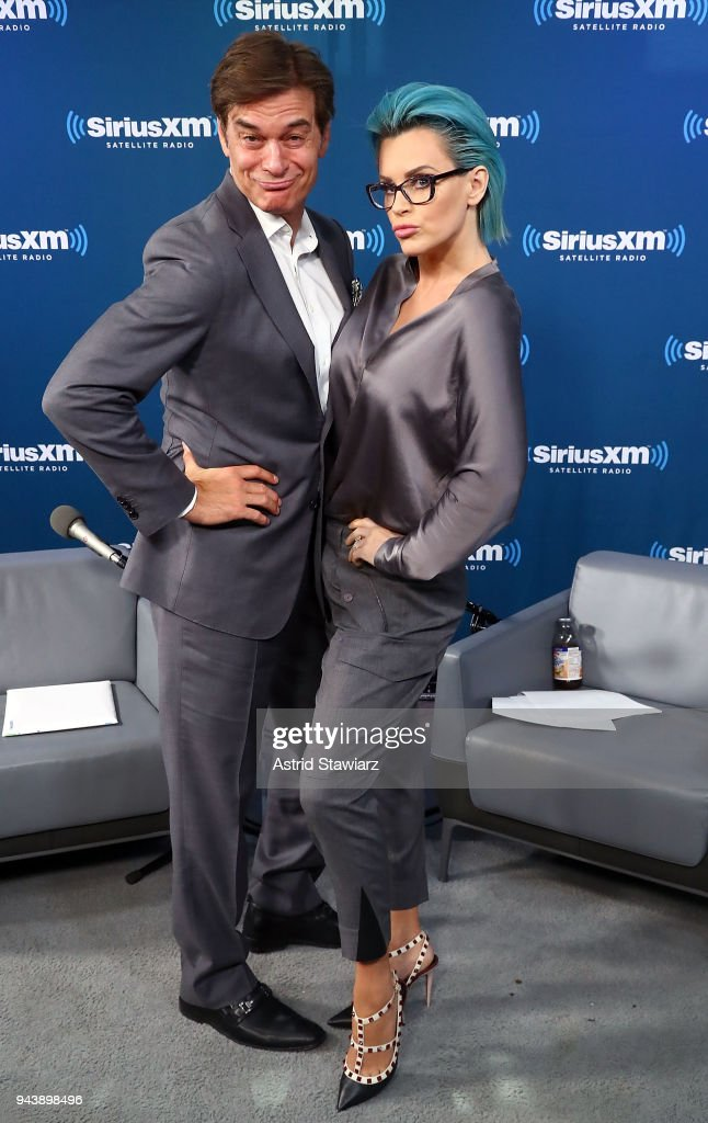Dr. Mehmet Oz talks with SiriusXM host Jenny McCarthy during her 'Inner Circle' series on her SiriusXM Show 'The Jenny McCarthy Show' at the SiriusXM Studios on April 9, 2018 in New York City.