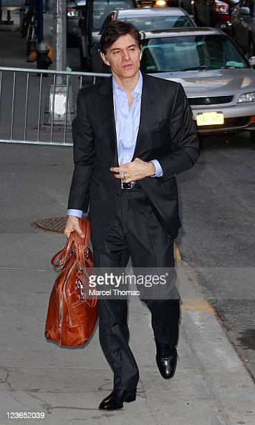 Dr Mehmet Oz visits Late Show With David Letterman at the Ed Sullivan Theater on January 5 2011 in New York City