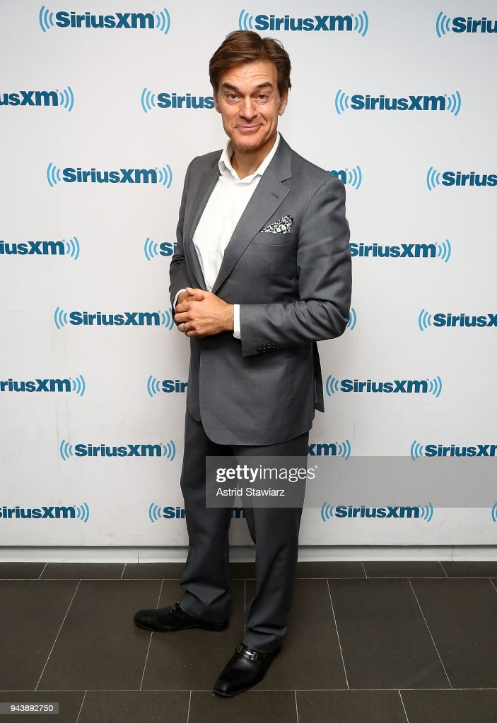 Dr. Mehmet Oz visits the SiriusXM Studios on April 9, 2018 in New York City.