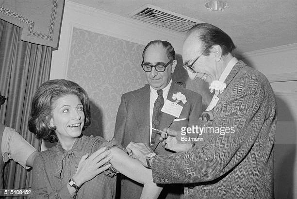 Dr Michael E DeBakey President of the Baylor College Medicine in Houston Texas and chairman of the jury which selected the 1978 Albert Lasker Awards...