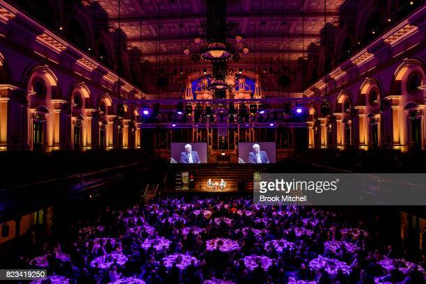 Dr Michael Fullilove the Executive Director of the Lowy Institute in conversation with British foreign secretary Boris Johnson at Sydney Town Hall on...