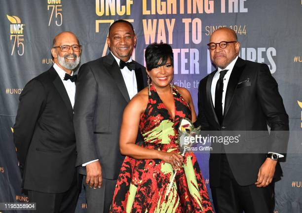 Dr Michael Lomax Derek W Bottoms Atlanta Mayor Keisha Lance Bottoms and Morehouse President Dr David A Thomas attend 36th Annual Atlanta UNCF Mayor's...