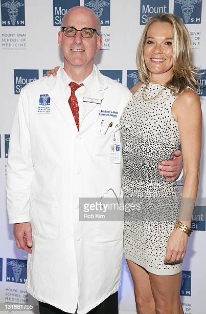 Dr Michael Marin and Dr Eva AnderssonDubin attend the opening of Dubin Breast Center at the Tisch Cancer Institute at Mount Sinai Hospital on April 6...