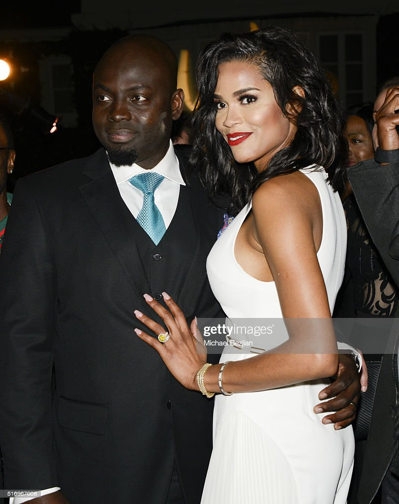 Dr. Michael Obeng (L) and Veronica Obeng at R.E.S.T.O.R.E: The Foundation For Reconstructive Surgery Charity Event on March 19, 2016 in Los Angeles, California.