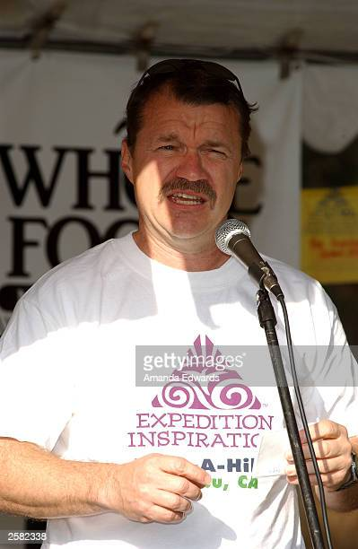 Dr Michael Press gives a speech at the 8th Annual Expedition Inspiration TakeAHike at Paramount Ranch in the Santa Monica Mountains National...