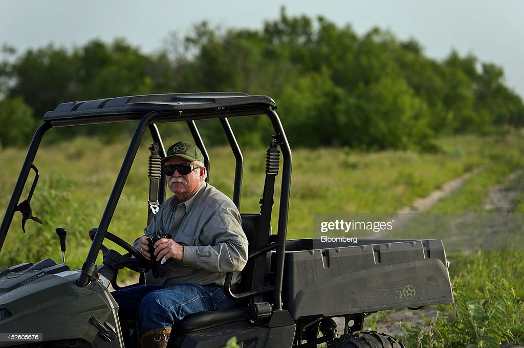 dr michael vickers looks for trespassers on his ranch south of