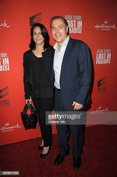 """Dr. Michelle Lee Widlitz and Al Sapienza attend """"Jesse Stone: Lost In Paradise"""" New York premiere at Roxy Hotel on October 14, 2015 in New York City."""