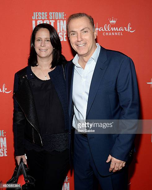 """Dr. Michelle Widlitz and actor Al Sapienza attend the """"Jess Stone: Lost In Paradise"""" New York Premiere at Roxy Hotel on October 14, 2015 in New York..."""
