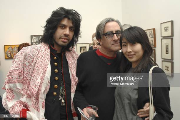 Dr Mikhail Berman Tosh Berman and Mikie Shioya attend SHE Images of women by Wallace Berman and Richard Prince Opening at Michael Kohn Gallery on...