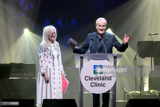 Dr Miriam Adelson and Larry Ruvo attend the 24th annual Keep Memory Alive 'Power of Love Gala' benefit for the Cleveland Clinic Lou Ruvo Center for...