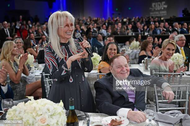 Dr Miriam Adelson and Sheldon Adelson attend Friends of The Israel Defense Forces Western Region Gala at The Beverly Hilton Hotel on November 1 2018...