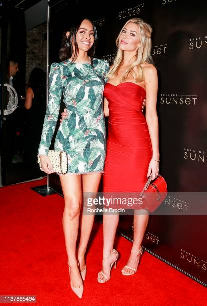 Dr Mona Vand and Heather Rae Young attend Netflix Selling Sunset Launch Party on March 23 2019 in West Hollywood California