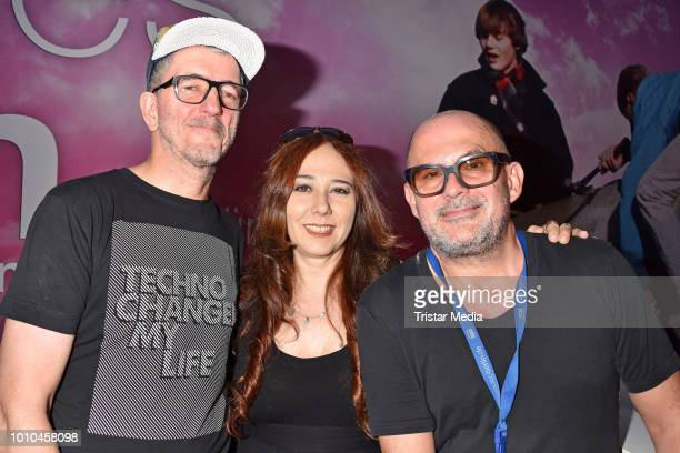 Dr Motte Danielle de Picciotto and Westbam during the 'Nineties' Vernissage on August 2 2018 in Berlin Germany