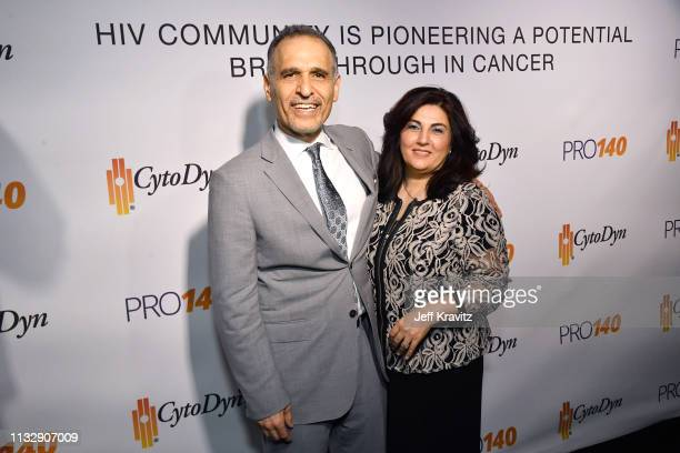 Dr Nader Pourhassan and guest attend CytoDyn's Pro 140 Awareness Event for HIV and Cancer Prevention at The Roosevelt Hotel in Hollywood on February...