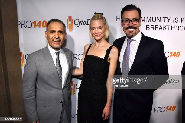 Dr Nader Pourhassan Jaime King and Dr Richard G Pestell attend CytoDyn's Pro 140 Awareness Event for HIV and Cancer Prevention at The Roosevelt Hotel...