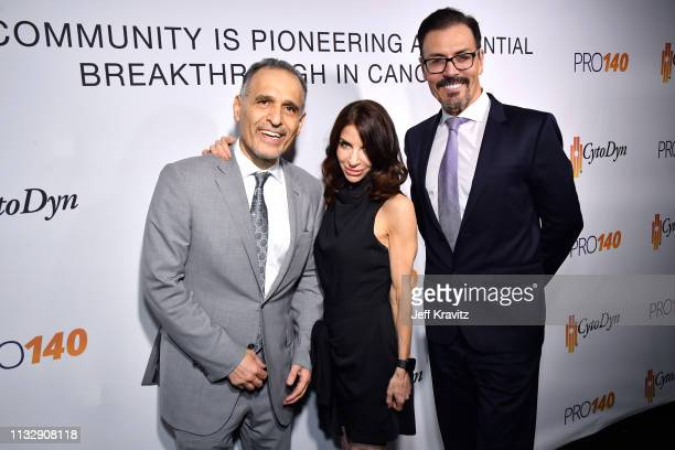 Dr Nader Pourhassan Michelle Steinberg and Dr Richard G Pestell attend CytoDyn's Pro 140 Awareness Event for HIV and Cancer Prevention at The...