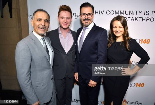 Dr Nader Pourhassan Miles Tagtmeyer Dr Richard G Pestell and Lauren White attend CytoDyn's Pro 140 Awareness Event for HIV and Cancer Prevention at...