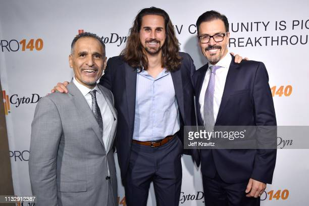 Dr Nader Pourhassan Tanner Anderson and Dr Richard G Pestell attend CytoDyn's Pro 140 Awareness Event for HIV and Cancer Prevention at The Roosevelt...