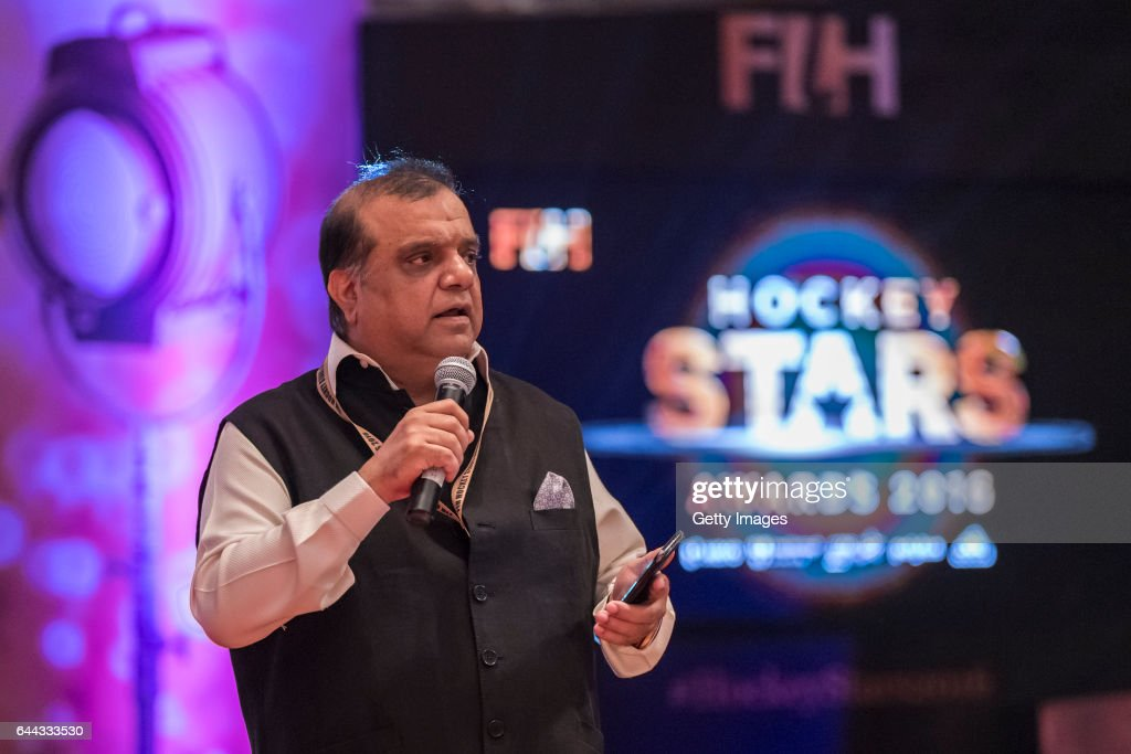 Dr Narinder Dhruv Batra President of The International Hockey Federation speaks during the FIH Hockey Stars Awards 2016 at Lalit Hotel on February 23.