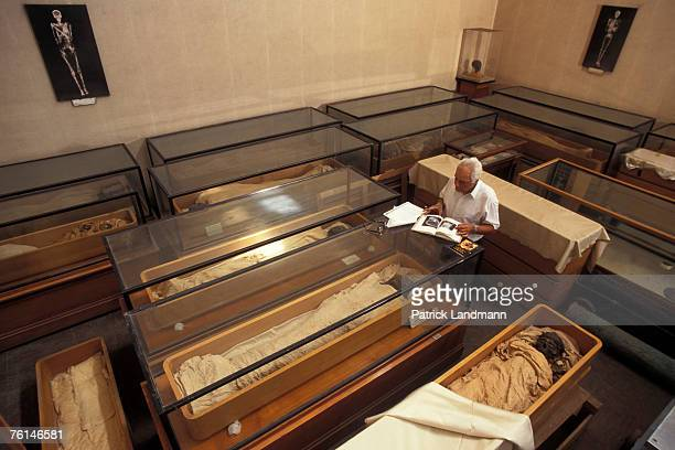 Dr Nasri Iskander now retired worked for over 40 years on the preservation treatment to royal mummies in his former laboratory April 2006 at Cairo...