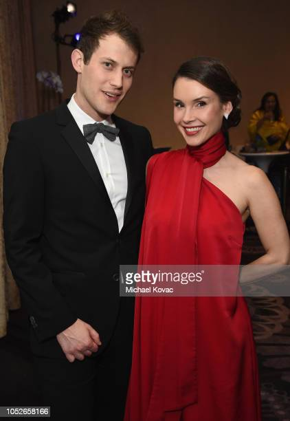 Dr Nathan Pierce and Kristina Anapau attend the Saint John's Health Center Foundation Gala at The Beverly Hilton Hotel on October 20 2018 in Beverly...