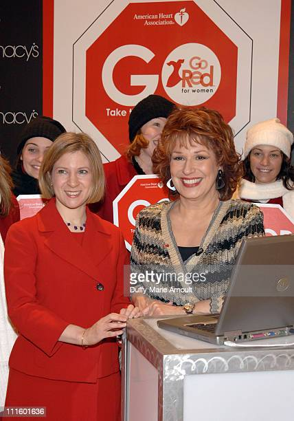 Dr Neica Goldberg and Joy Behar during Joy Behar and The American Heart Association Kick Off American Heart Month with Go Red for Women January 31...