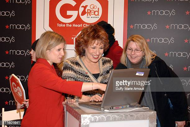 Dr Neica Goldberg Joy Behar and guest during Joy Behar and The American Heart Association Kick Off American Heart Month with Go Red for Women January...