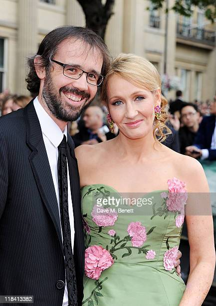 Dr Neil Murray and author JK Rowling arrive at the World Premiere of 'Harry Potter And The Deathly Hallows Part 2' in Trafalgar Square on July 7 2011...
