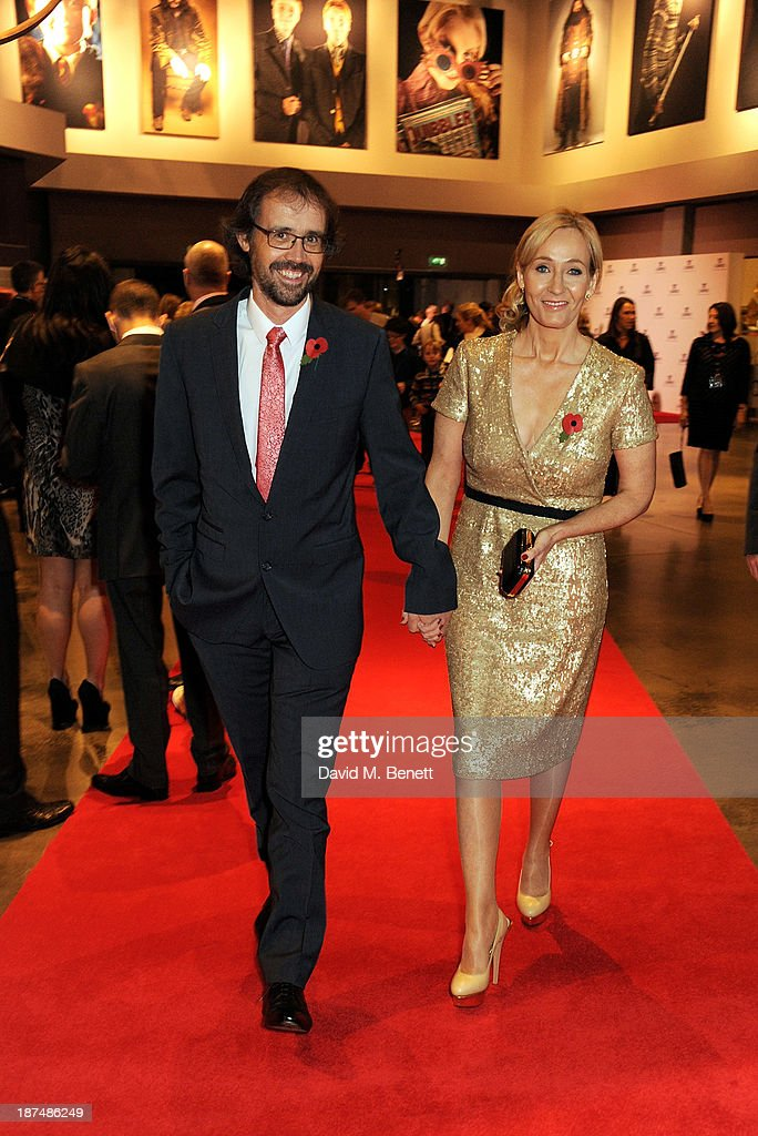 Dr Neil Murray (L) and J.K. Rowling attend the Lumos fundraising event hosted by J.K. Rowling at The Warner Bros. Harry Potter Tour on November 9, 2013 in London, England.