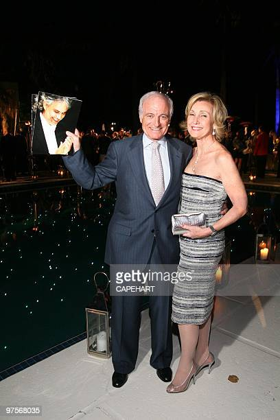 Dr Neville Marks and Lana Marks attend the Andrea Bocelli concert at The MaraLago Club on February 28 2010 in Palm Beach Florida
