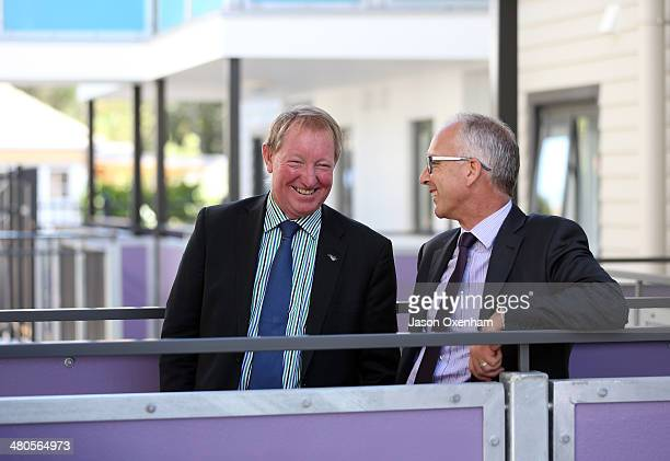 Dr Nick Smith Minister of Housing and Glen Sowry Housing New Zealand CEO at the opening of Housing New Zealand's Garrison Henshaw redevelopment...