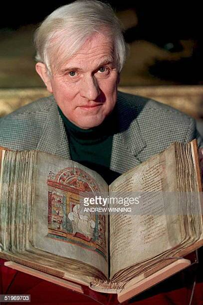 Dr Nigel Wilkins the librarian of Cambridge University's Corpus Christi College holds the most venerable relic of English Christianity 'The...