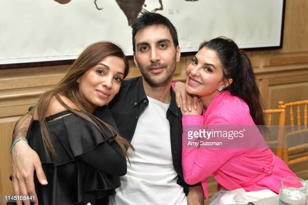 Dr. Nigma Talib, Nikhil Mansata and Jacqueline Fernandez attend an intimate dinner in celebration of BoF West 2019 at San Vicente Bungalows on April...