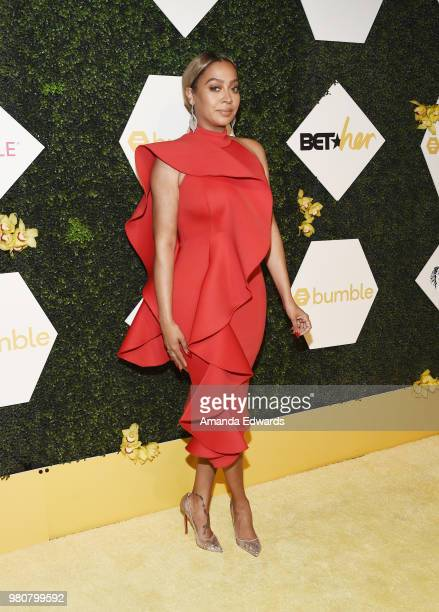 Dr Nita Landry arrives at the BET Her Awards Presented By Bumble at The Conga Room at LA Live on June 21 2018 in Los Angeles California
